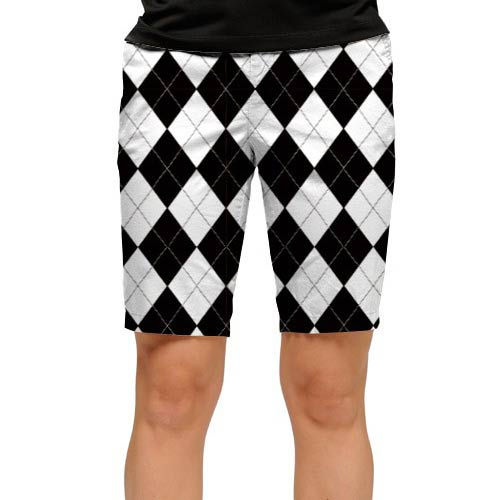 ラウドマウスゴルフ Ladies Black & White Short (#WS)