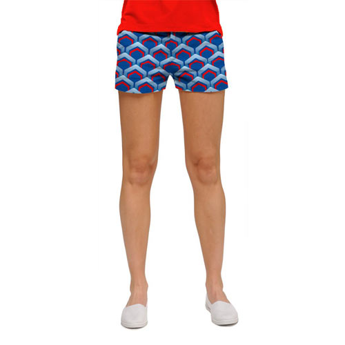 LoudMouth Ladies Lounge Lizard Blue Shorts (#SS)