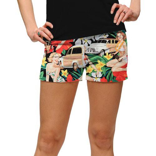 ラウドマウスゴルフ Ladies Aloha Girls Mini Shorts (#SS)