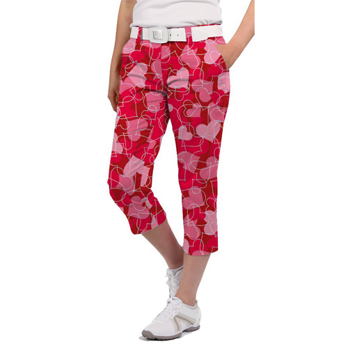 LoudMouth Ladies Sweethearts Capri Pants