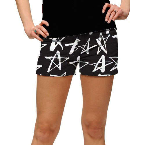 LoudMouth Ladies Shooting Stars StretchTech Mini Shorts