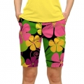 LoudMouth Ladies Big Poppies Bermuda Pants