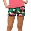 LoudMouth Ladies Flamingo Bay StretchTech Mini Shorts