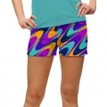 LoudMouth Ladies Razzberry Swirl StretchTech Mini Shorts