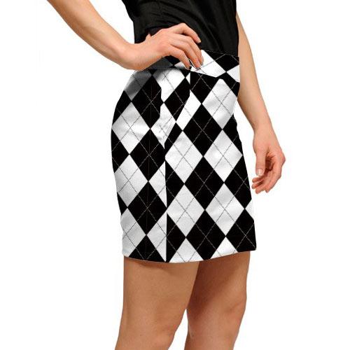 ラウドマウスゴルフ Ladies Black & White Skort (#SK)