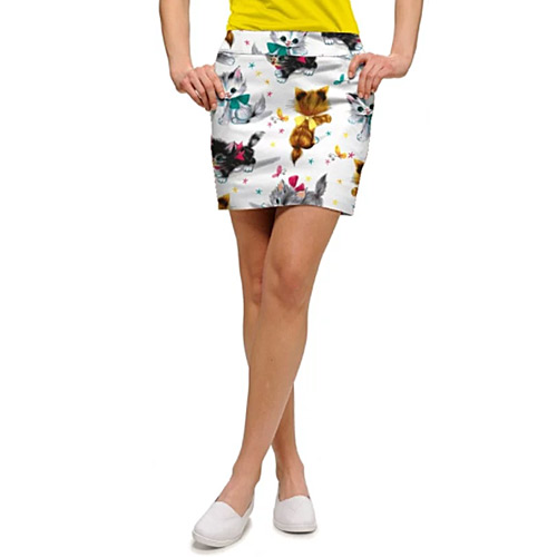 LoudMouth Ladies Cute Little Pussy Cats Skort