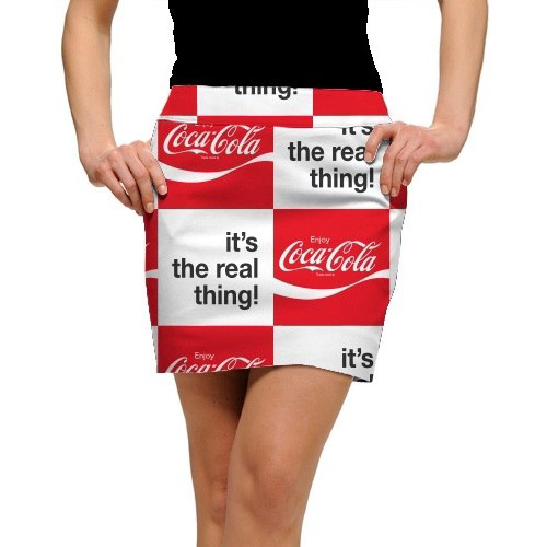 LoudMouth Ladies Coca-Cola It's the Real Thing StretchTech Skort