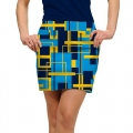 LoudMouth Ladies Power Grid StretchTech Skort