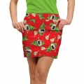 LoudMouth Ladies Santa's Little Helpers StretchTech Skort