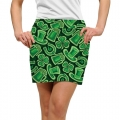LoudMouth Ladies Fore Leaf Clover StretchTech Skort