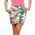 LoudMouth Ladies Flamingo Bay White Skort