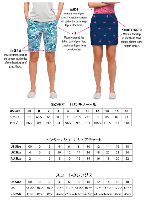 LoudMouth Ladies Size Chart ラウドマウス レディース サイズチャート