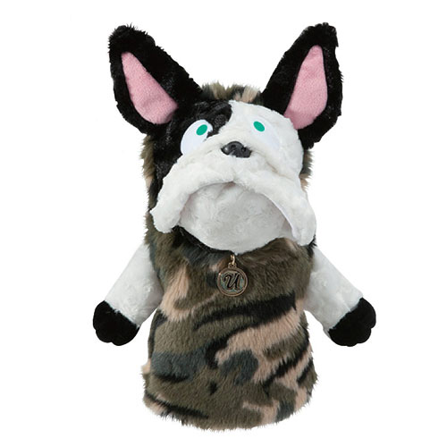 MUスポーツ Ladies Driver Cover French Bulldog Plush