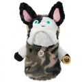 MU Sports Ladies Fairway Wood Cover French Bulldog Plush