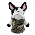 MU Sports Ladies Driver Cover French Bulldog Plush
