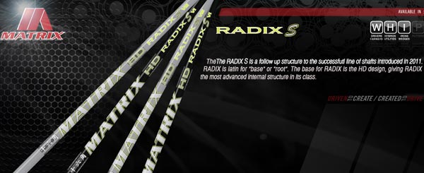 Matrix RADIX S Wood Shafts
