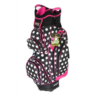 Molhimawk Ladies Pink Polka Dot Golf Cart Bag