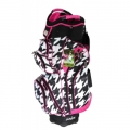Molhimawk Ladies Pink Houndstooth Golf Cart Bag