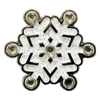 Navika Ladies Sparkled Snowflake Ball Markers(#CL005)