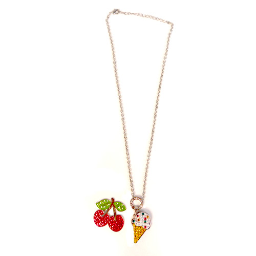 Navika Ladies Cherry & Ice Cream Necklace Ball Markers