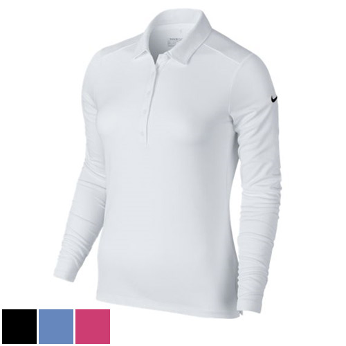 Nike Ladies Victory Solid Long Sleeve Polo