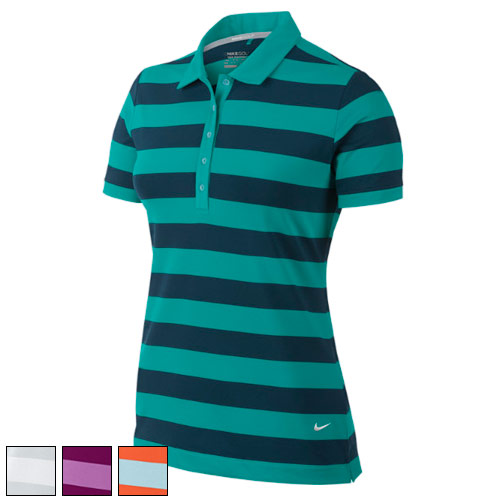 Nike Ladies Bold Stripe Golf Polo Shirts