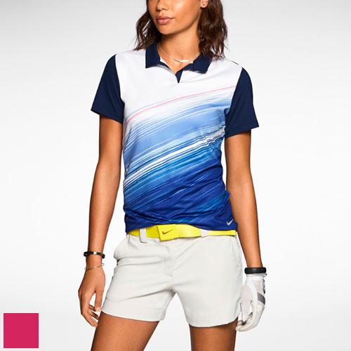 Nike Ladies Speed Stripe Mesh Polo Shirts/ナイキレディーススピードストライプメッシュポロシャツ【ゴルフウェアNikeGolf(ナイキゴルフ)】/NKE0887/NikeGolf(ナイキゴルフ)/激安クラブ USAから直送【フェアウェイゴルフインク】