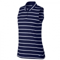 Nike Ladies Nike Dri-FIT Sleeveless Striped Golf Polo