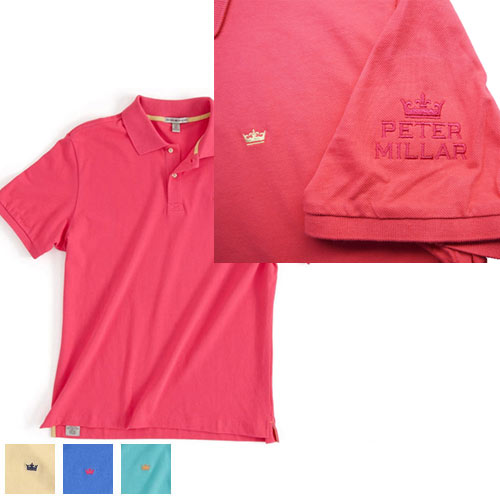 Peter Millar Sunwashed Pique Knit Pima Cotton Polo Shirts
