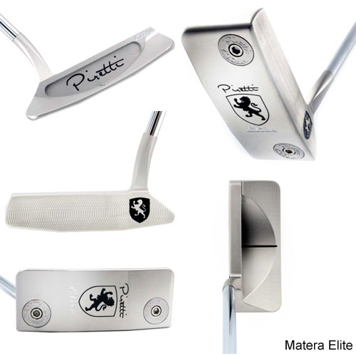 Piretti Elite Series Putters w/Black Paintfill