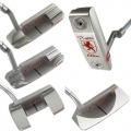 Piretti Elite Series Silver Putters w/Red Paintfill
