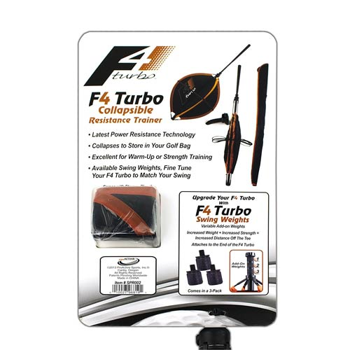 F4 Turbo Collapsible Resistance Golf Swing Trainer