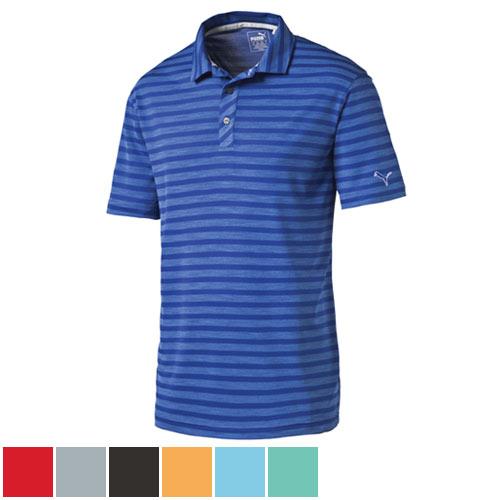 プーマ ゴルフ Essential Mixed Stripe Golf Polo Cresting (#571864)/プーマゴルフエッセンシャルミックスストライプゴルフポロ棟飾り(#571864)【ゴルフウェアPuma(プーマ)】/PMA0303/Puma(プーマ)/激安クラブ USAから直送【フェアウェイゴルフインク】