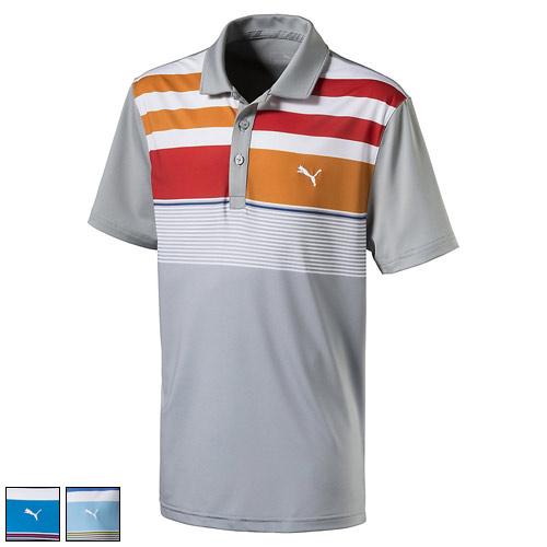 プーマ ゴルフ Juniors Road Map Asym Golf Polo