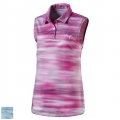 Puma Junior Girls Uncamo Sleeveless Golf Polo