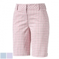 Puma Ladies Plaid Golf Bermuda Shorts