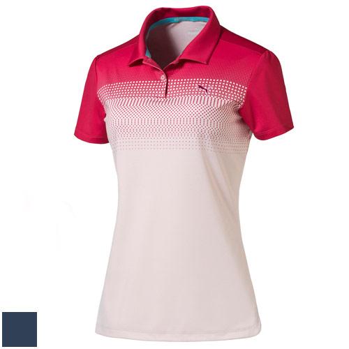 プーマ ゴルフ Ladies Colorblock Fade Golf Polo