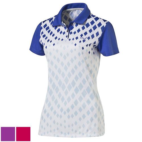 プーマ ゴルフ Ladies Diamond Graphic Golf Polo/プーマゴルフレディースダイヤモンドグラフィックゴルフポロ【ゴルフウェアPuma(プーマ)】/PMA0315/Puma(プーマ)/激安クラブ USAから直送【フェアウェイゴルフインク】