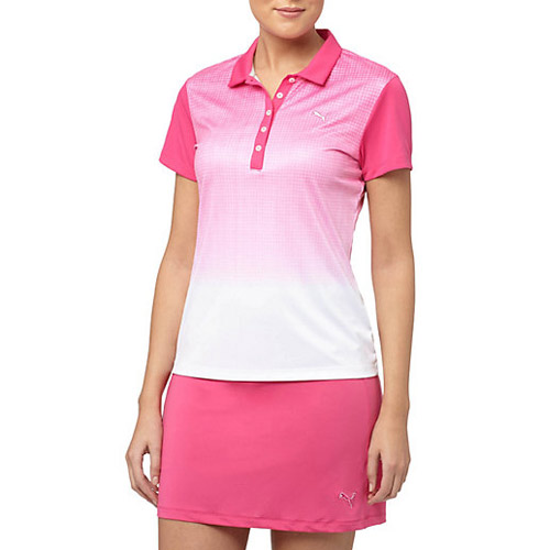 プーマ ゴルフ Ladies Texture Fade Golf Polo