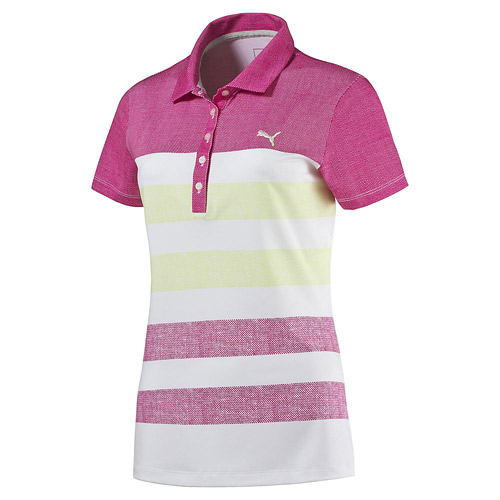 プーマ ゴルフ Ladies Road Map Texture Golf Polo