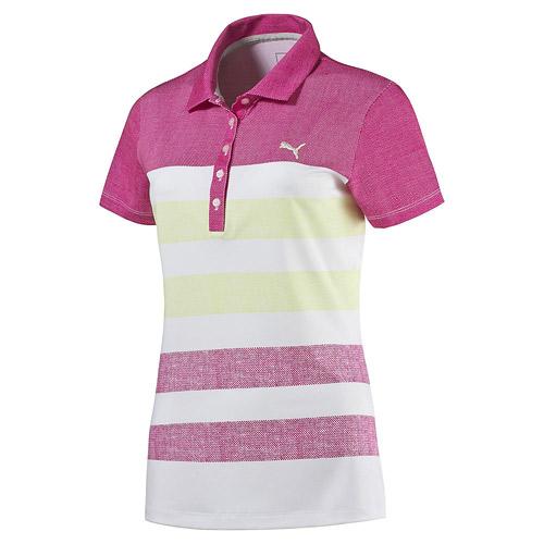 プーマ ゴルフ Ladies Road Map Texture Golf Polo
