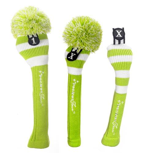 ロケットツアー Lime White Rugby Stripe Headcovers