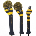 RocketTour Navy Base Rugby Stripe Pom Pom Headcover