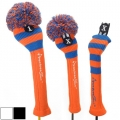 RocketTour Orange Base Rugby Stripe Pom Pom Headcover
