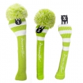 RocketTour Lime White Rugby Stripe Headcovers