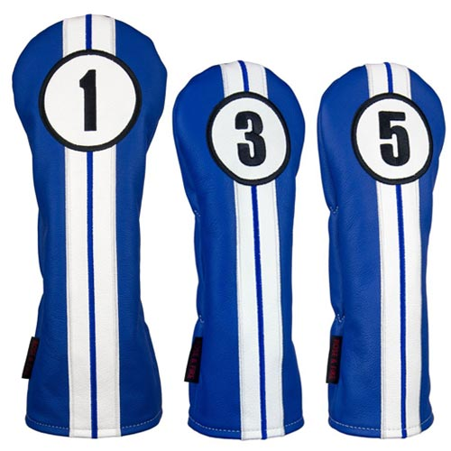 Rose & Fire Racing Stripes Premium USA Leather Headcover Set