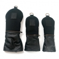 Rose & Fire Ballistic Nylon Black Leather Headcover Set