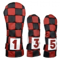 Rose & Fire Checkered Premium USA Leather Headcover Set