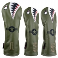 Rose & Fire Bomber/Warhawk Premium USA Leather Headcover Set