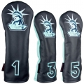 Rose & Fire Lady Liberty Premium USA Leather Headcover Set